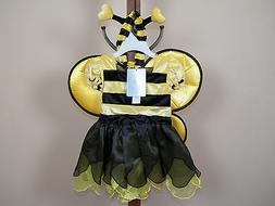 Koala Kids 2-Piece Bee Halloween Costume Girls Size 6M 9M 12