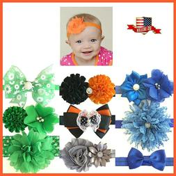 2pcs/set Kid Baby Halloween Flower Bow Beads Headband/Costum