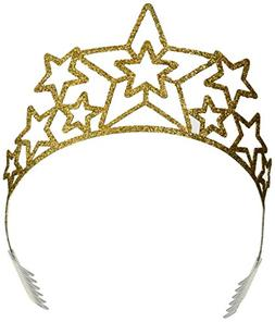 Beistle 60639 Glittered Metal Star Tiara