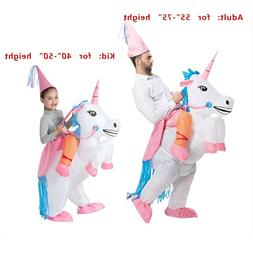 Adult Kids' Unicorn Costume Inflatable Suit Halloween Cospla