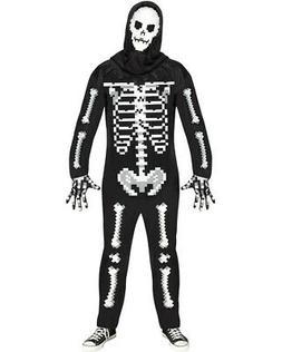 Adult's Mens Game Over Guy Pixel Skeleton Enemy Monster Cost