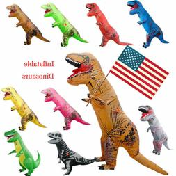 Adults Inflatable Dinosaur T-REX Costume Child Jurassic Hall