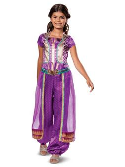 Disney Aladdin - Jasmine Purple Child Costume - 2019 Movie