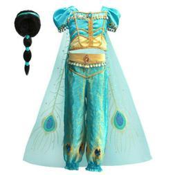 Aladdin Princess Jasmine Dress Up Girls Kids Party Ball Fanc