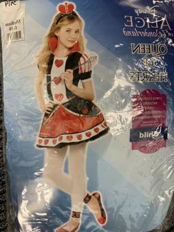 Alice in Wonderland Queen Of Hearts Costume Size 8-10 Child