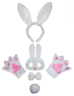 Petitebella Animal Headband Bowtie Tail Gloves Mask 5pc Chil