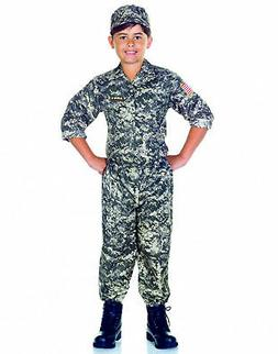 Army Camouflage Uniform Usa Soldier Child Boys Halloween Cos