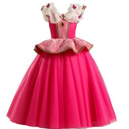 Aurora Princess Tutu Dress Kids Girl Cosplay Party Fancy Sle