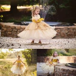 Baby Belle Princess Dress Kids Girl Birthday Party Prom Gowm