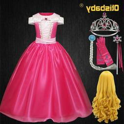 Baby Girls Aurora Dress Girls Sequins Party Sleeping Beauty