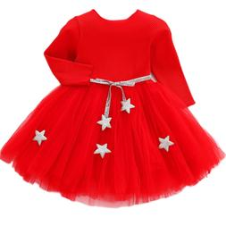 Baby Girls Sweater <font><b>Dress</b></font> With Star Infan