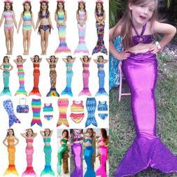 Baby Kids Girls Mermaid Tail Swimwear Bikini Set Swimsuit Be
