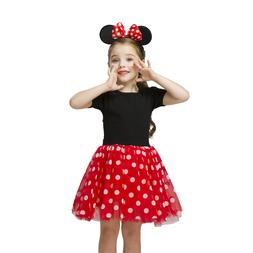 Baby Kids Girls Minnie Mouse Ballet Princess Dress Party Cos