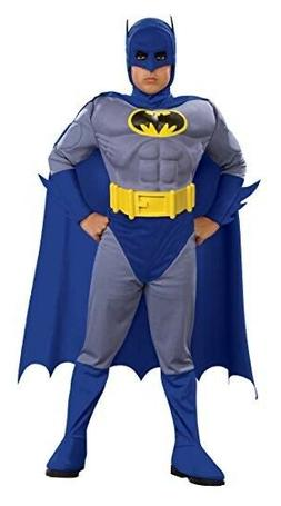 Batman Deluxe Muscle Batman Child Rubie's Costume - NWT