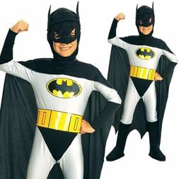 Batman Super Hero Boys Kids Halloween Dress Cosplay Party Fa