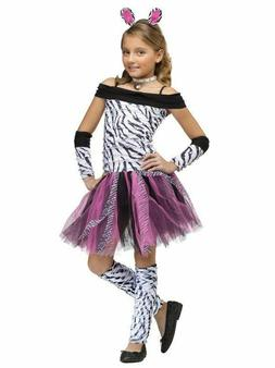 Fun World Big Girl's Zebra Kids Costume Children's Costume *