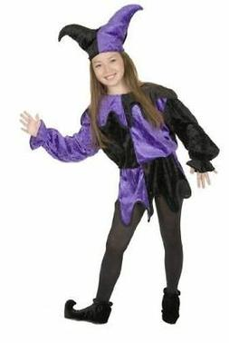 Charades Black and Purple Jester Child Costume - 3 Sizes