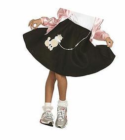 Black Poodle Skirt Costume for Kids