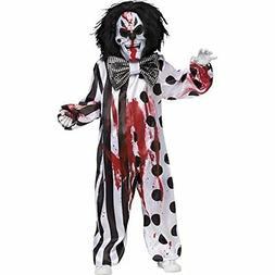 Fun World Bleeding Killer Clown Childrens Costume, Multicolo