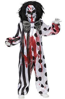 Brand New Bleeding Killer Clown Scary Child Costume