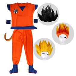 Boys Anime Dragon Ball Z GoKu Costume Kids Set Halloween Par