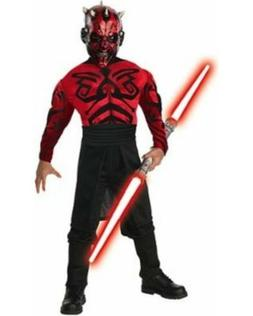 Boys Child Star Wars Deluxe Muscle Chest Evil Darth Maul Cos