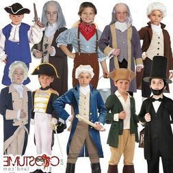 Boys Colonial Patriotic Kids Paul Revere Washington Civil Wa