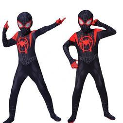 Boys Kids Children Spiderman Costume Cosplay Fancy Tights Ze