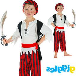 Boys Pirate Buccaneer Kids Child World Book Day Week Fancy D