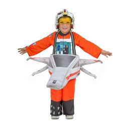 Boys STAR WARS Ride-In X-Wing Pilot Costume Luke Skywalker P