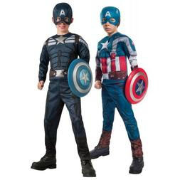 Captain America Costume Kids Halloween Fancy Dress Up