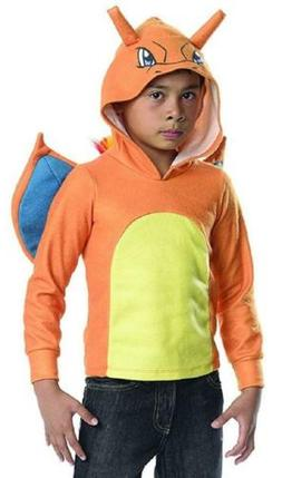 Charizard Boy Hoodie Pokemon Nintendo Fancy Dress Up Hallowe