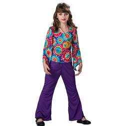 Child Girls Hippie 60s 70s Halloween Costume Party Outfits F