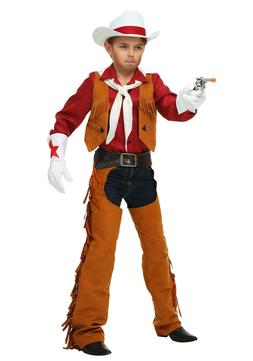 CHILD RODEO COWBOY CHAPS COSTUME SIZE LARGE