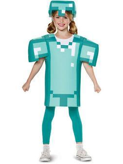 Child's Boys Classic Minecraft Armor Mine Craft Mojang Costu