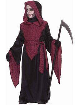 Child's Boys Grim Reaper Hooded Horror Death Robe Costume