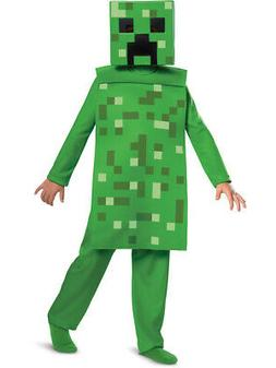 Child's Classic Minecraft Creeper Mob Mojang Costume