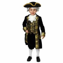Child's Historical George Washington Dress Up Costume NEW Si