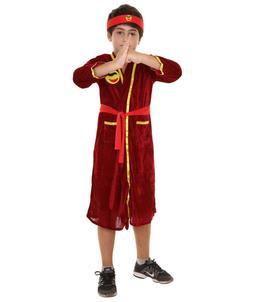 Child's Karate Kid Cobra Kai  Bathrob Costume   Red Cosplay