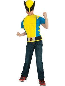 Child's Marvel X-Men Wolverine Costume Muscle Shirt Mask Med