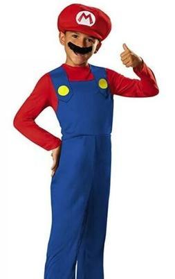 Child Super Mario Bros Mario Costume Disguise Size Small 4-6