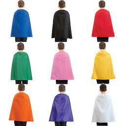 "CHILD SUPERHERO COSTUME CAPE KIDS BOYS GIRLS 26"" COSTUME CAP"