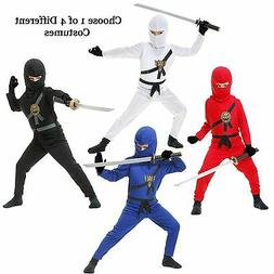Child Warrior Ninjas Red Blue Black White Ninja Assassin Sui