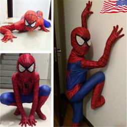 Children Christmas Party Boy Spiderman Costume Kids Superher