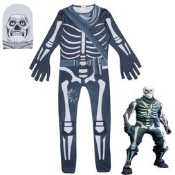 Children halloween clothes skull ghost face trooper <font><b