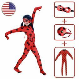 Children Miraculous Ladybug Girls Fancy Dress Cosplay Kids S