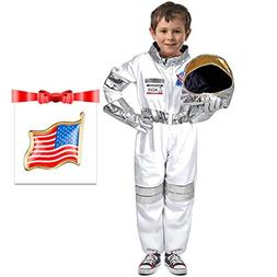 Children's Astronaut Costume Dress up Role Play Set for Kids