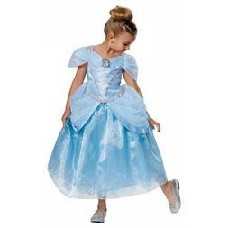 Cinderella Costume Kids Disney Princess Halloween Fancy Dres