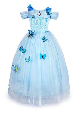 Cinderella Dress Girls Princess Costume Party Dress Up Butte