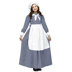 Colonial Pilgrim Girl Kids Thanksgiving Costume | Fun World